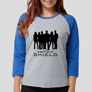 Agents of S.H.I.E.L.D. Silhoue Womens Baseball Tee
