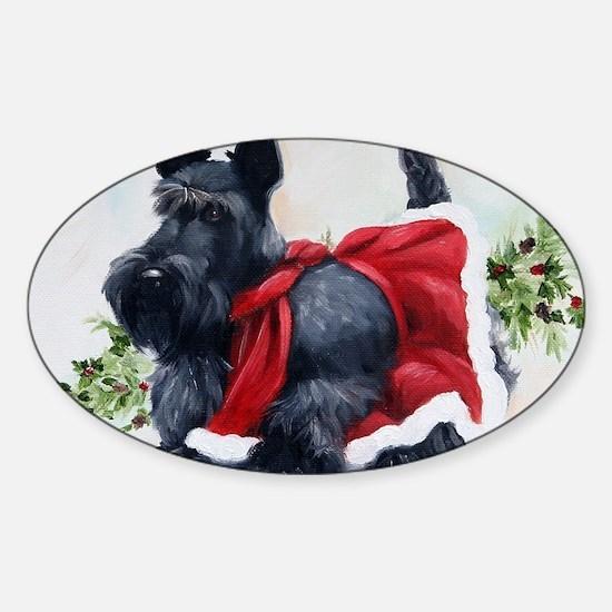 Christmas Sticker (Oval)