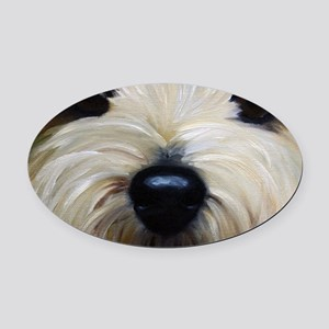 Up Close and Personal Oval Car Magnet