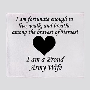 Army Wife Fortunate Throw Blanket