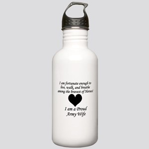 Army Wife Fortunate Water Bottle