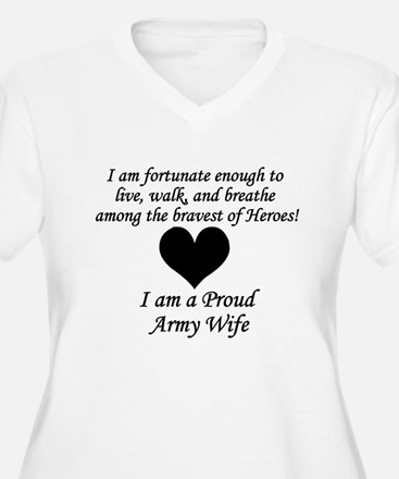 Army Wife Fortunate Plus Size T-Shirt