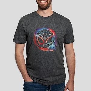 Spider-Man Icon Splatter Mens Tri-blend T-Shirt