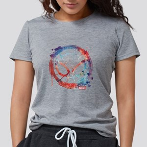 Spider-Man Icon Splatter Womens Tri-blend T-Shirt