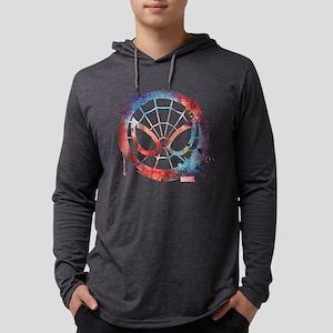 Spider-Man Icon Splatter Mens Hooded Shirt