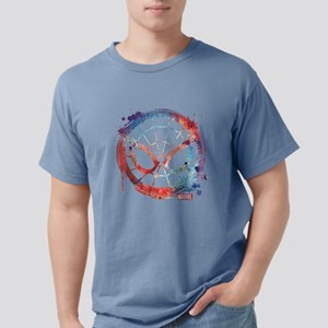Spider-Man Icon Splatter Mens Comfort Colors Shirt