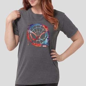 Spider-Man Icon Splatt Womens Comfort Colors Shirt