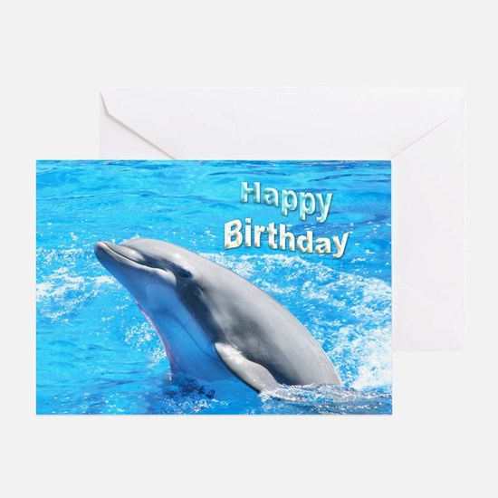 Happy Birthday Dolphin Greeting Card