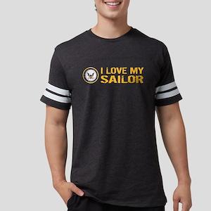 U.S. Navy: I Love My Sailor Mens Football Shirt