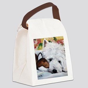 Fox and the Hound Canvas Lunch Bag