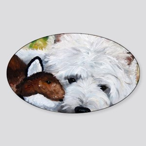 Fox and the Hound Sticker (Oval)