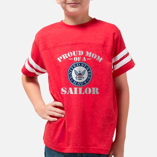 Proud US Navy Mom Youth Football Shirt