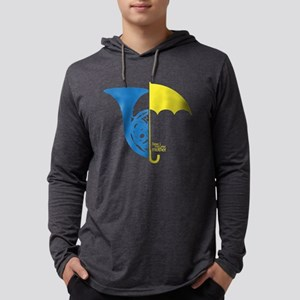 HIMYM Blue Horn Yellow Umbrella  Mens Hooded Shirt