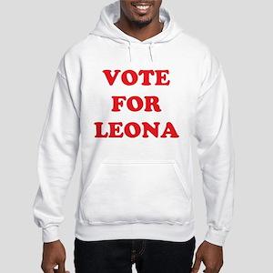 Vote For LEONA Hooded Sweatshirt