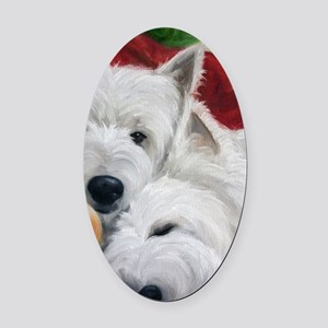 the Art of Snuggling Oval Car Magnet