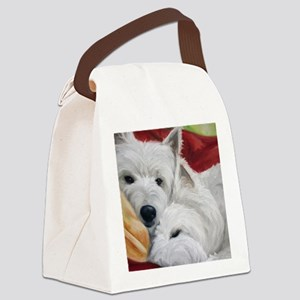 the Art of Snuggling Canvas Lunch Bag