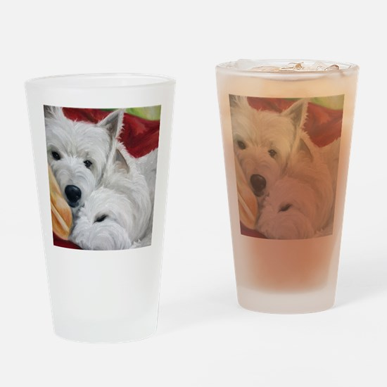 the Art of Snuggling Drinking Glass