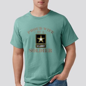 Proud U.S. Army Wife Mens Comfort Colors Shirt