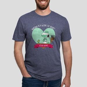 Snoopy - Nursing Mens Tri-blend T-Shirt