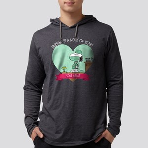 Snoopy - Nursing Mens Hooded Shirt