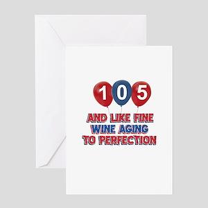104th birthday designs Greeting Card