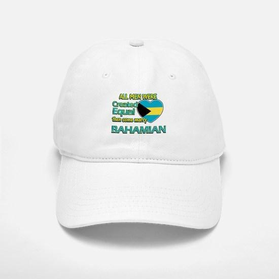 Bahamian wife designs Baseball Baseball Cap