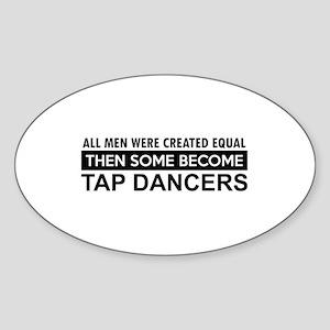 Tap Dance designs Sticker (Oval)