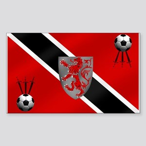 Trinidad Tobago Football Sticker (Rectangle)