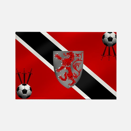 Trinidad Tobago Football Rectangle Magnet