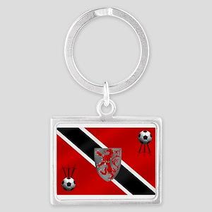 Trinidad Tobago Football Landscape Keychain