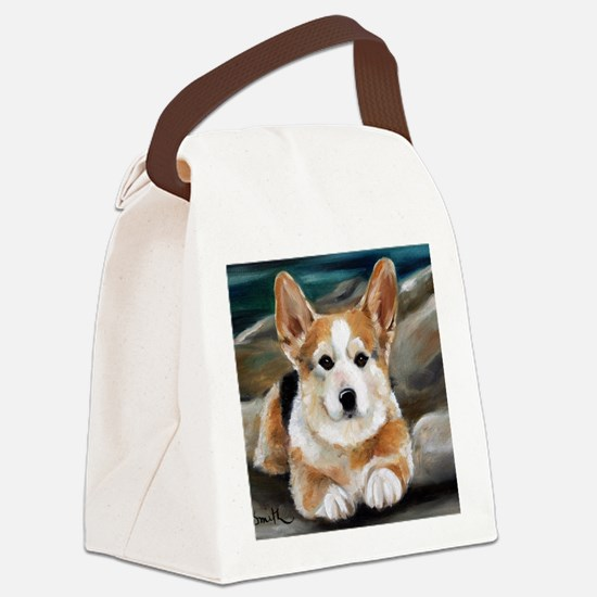 On The Rocks Canvas Lunch Bag