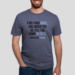 Find Your Voice Mens Tri-blend T-Shirt