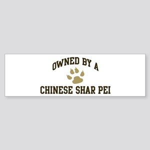 Chinese Shar Pei: Owned Bumper Sticker