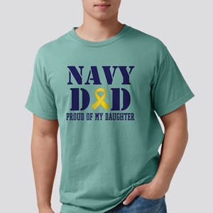 Navy Dad Proud Of Daught Mens Comfort Colors Shirt