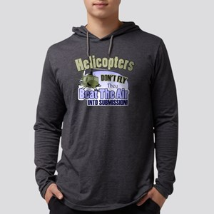 Helicopters Don't Fly Mens Hooded Shirt