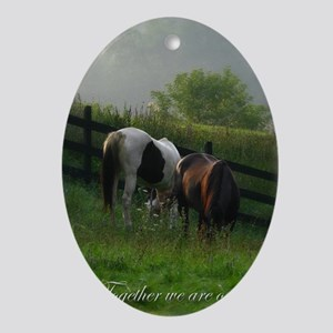 Horse Oval Ornament