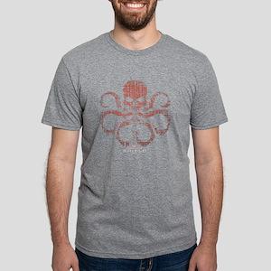 HYDRA Logo Alien Writing Da Mens Tri-blend T-Shirt
