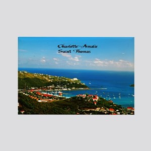 Charlotte-Amalie  Rectangle Magnet