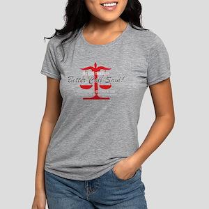 Better Call Saul Red Dark Womens Tri-blend T-Shirt