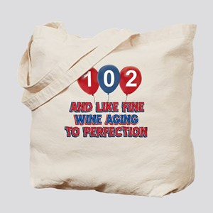 102nd birthday designs Tote Bag