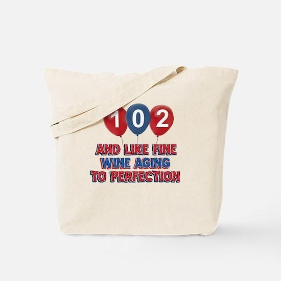 102nd birthday designs Tote Bag