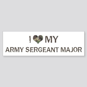 Army Sergeant Major: Love - V Bumper Sticker