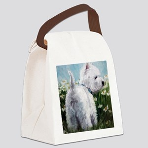 Picking Daisies Canvas Lunch Bag