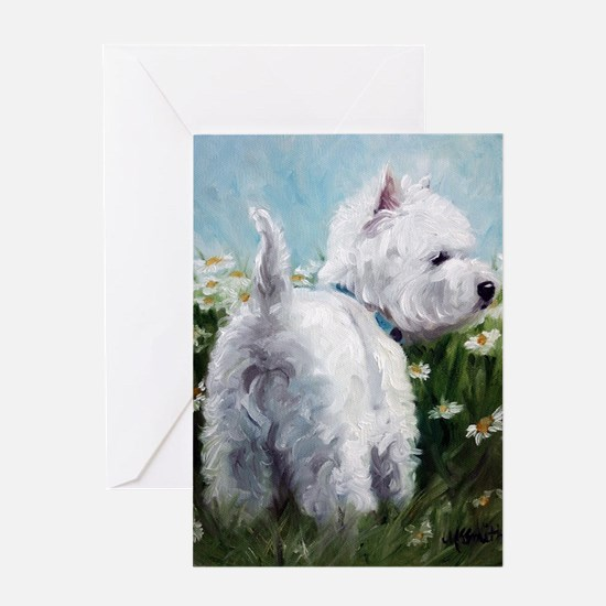 Picking Daisies Greeting Card