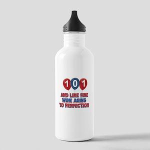 101st birthday designs Stainless Water Bottle 1.0L
