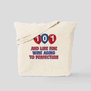 101st birthday designs Tote Bag