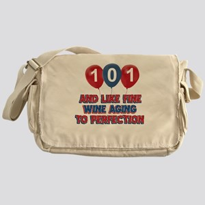 101st birthday designs Messenger Bag
