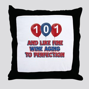101st birthday designs Throw Pillow