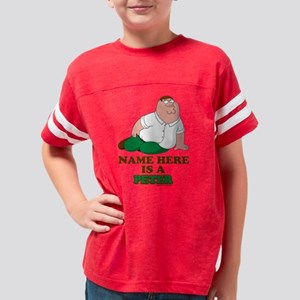 Family Guy Peter Personalized Youth Football Shirt