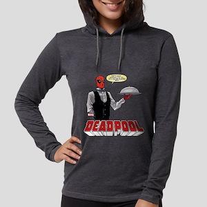 Deadpool Silver Platter Womens Hooded Shirt
